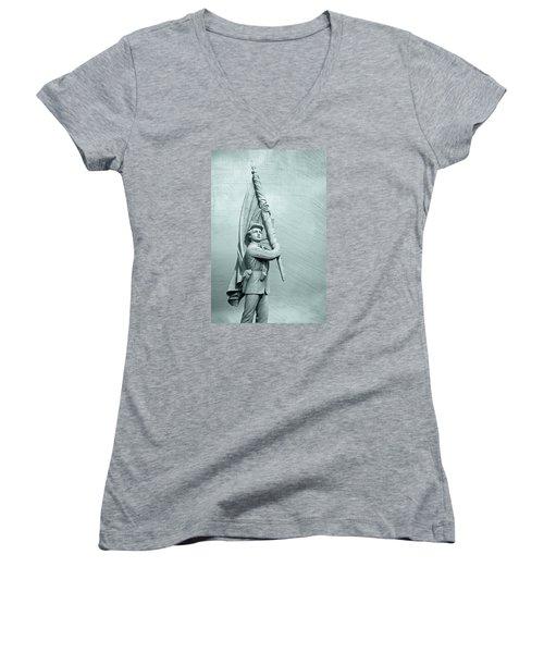 Antietam Civil War Monument Women's V-Neck (Athletic Fit)