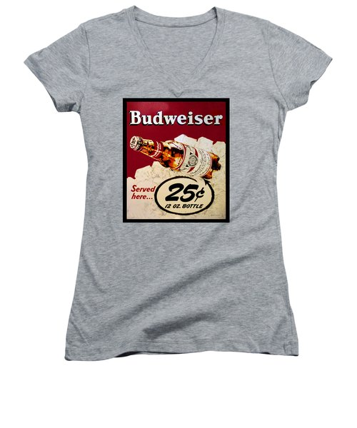 Antique Budweiser Signage Women's V-Neck (Athletic Fit)