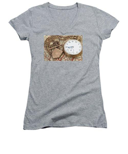 Antique Memories Women's V-Neck T-Shirt