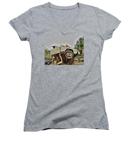 Antiques Broken Women's V-Neck T-Shirt