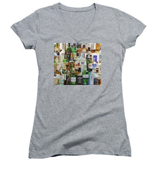 Anyone For A Drink Women's V-Neck T-Shirt (Junior Cut) by Maj Seda