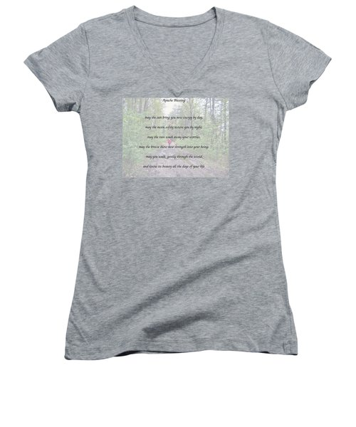 Apache Blessing With Photo Women's V-Neck