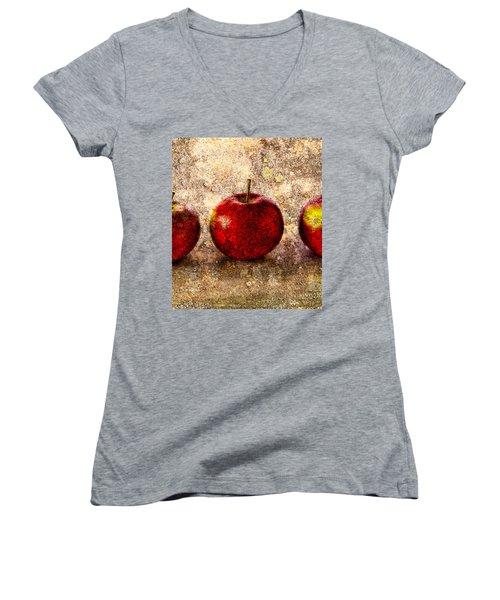 Apple Women's V-Neck (Athletic Fit)