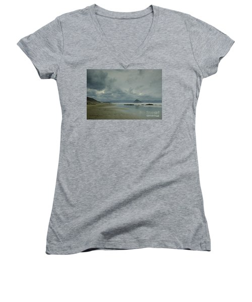 Approaching Storm - Morro Rock Women's V-Neck (Athletic Fit)