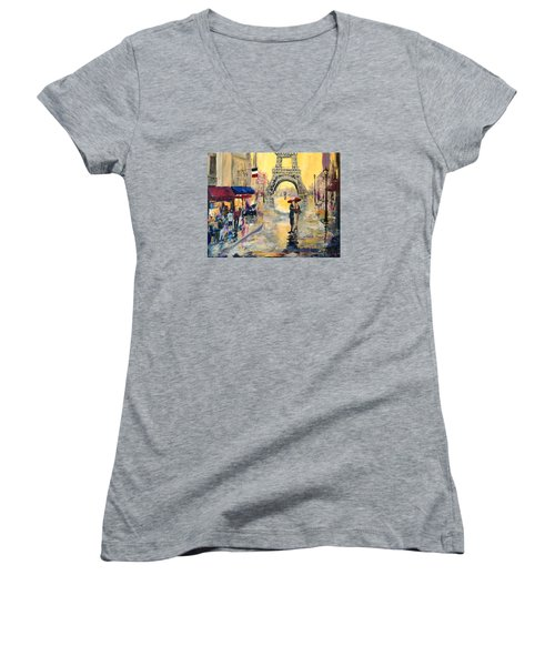 April In Paris Women's V-Neck T-Shirt