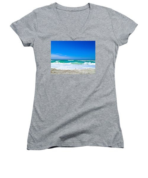 Aqua Surf Women's V-Neck T-Shirt