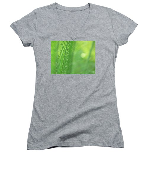 Women's V-Neck T-Shirt (Junior Cut) featuring the photograph Arabesque by Evelyn Tambour