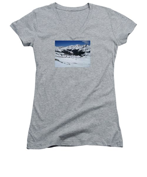 Arapahoe Basin June 2  Women's V-Neck (Athletic Fit)