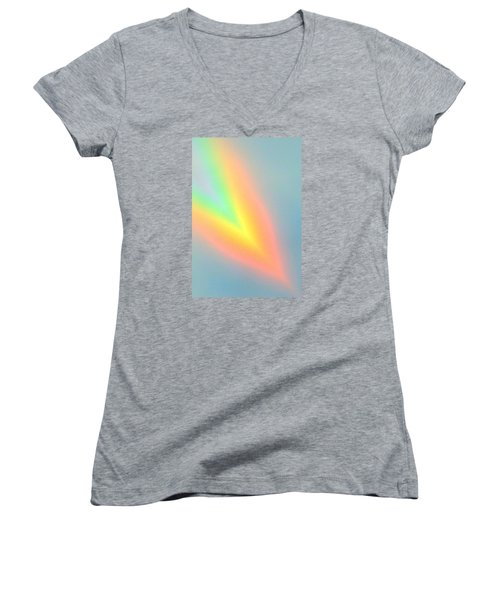 Arc Angle Two Women's V-Neck T-Shirt (Junior Cut) by Lanita Williams
