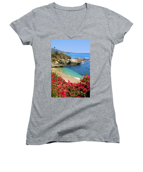 Arch Rock And Beach Laguna Women's V-Neck