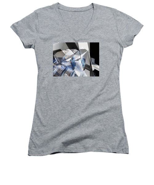 Architectural Abstract Women's V-Neck (Athletic Fit)