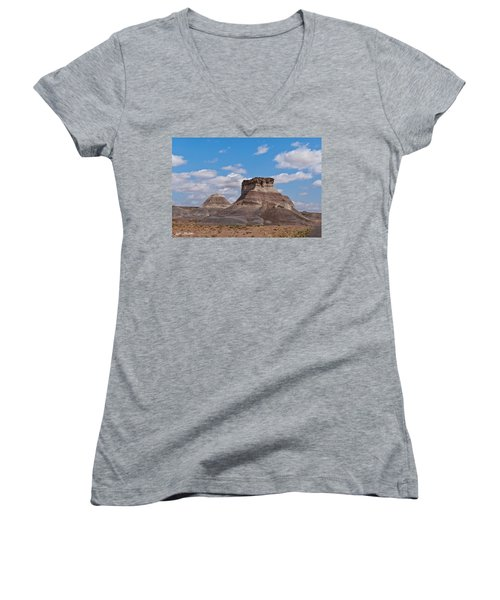 Arizona Desert And Mesa Women's V-Neck T-Shirt (Junior Cut) by Jeff Goulden