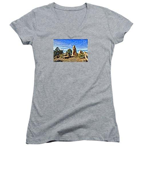 Arizona Monolith Women's V-Neck