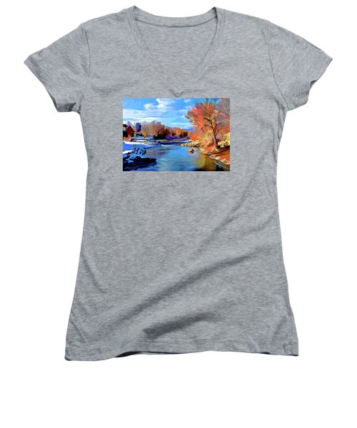 Arkansas River In Salida Co Women's V-Neck (Athletic Fit)