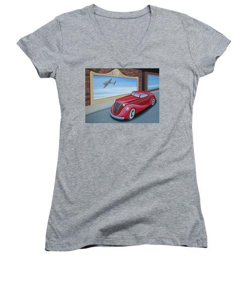 Art Deco Coupe Women's V-Neck T-Shirt
