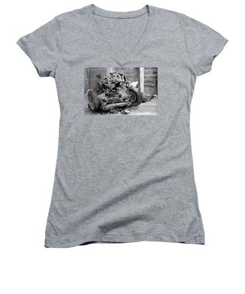 Women's V-Neck T-Shirt (Junior Cut) featuring the photograph Art by Steven Macanka