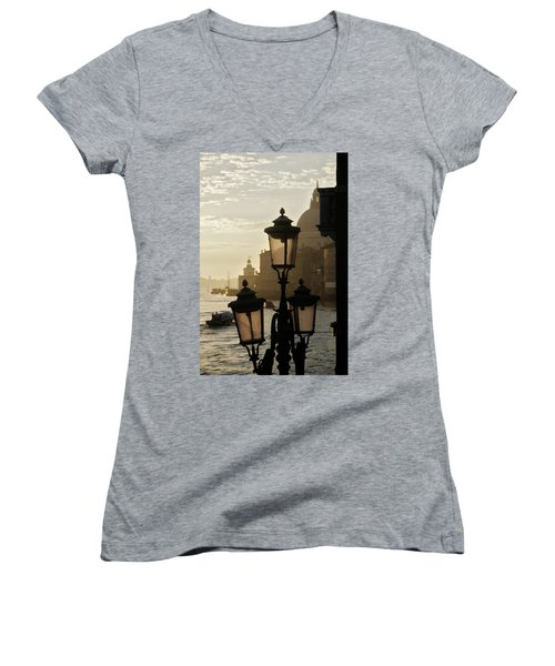 As The Day Begins  Women's V-Neck (Athletic Fit)