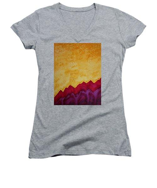Ascension Original Painting Women's V-Neck T-Shirt (Junior Cut) by Sol Luckman