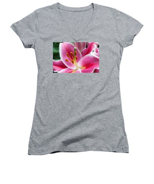 Asian Lily Women's V-Neck (Athletic Fit)