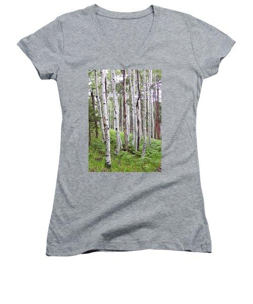 Aspen Forest Women's V-Neck T-Shirt