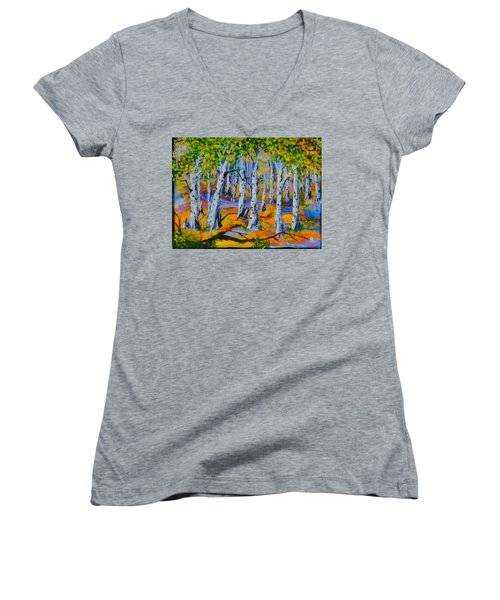 Aspen Friends In Walkerville Women's V-Neck T-Shirt