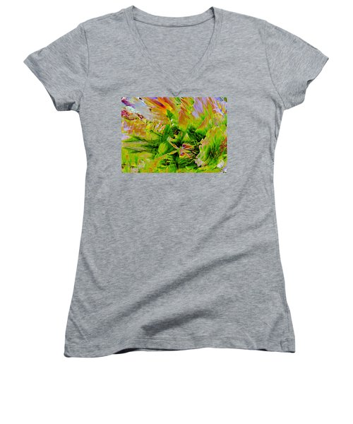 Aspidistral Butterfly Women's V-Neck T-Shirt (Junior Cut) by Stephanie Grant