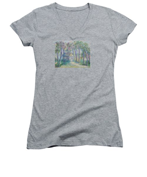 At Home In Marineland Fl Women's V-Neck (Athletic Fit)