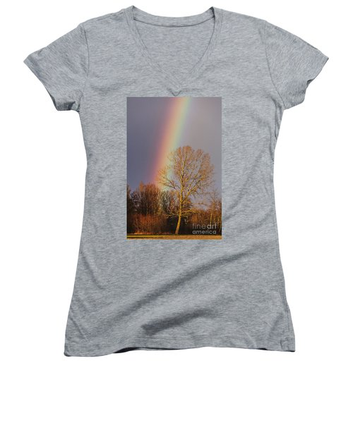 At The End Of The Rainbow Women's V-Neck (Athletic Fit)