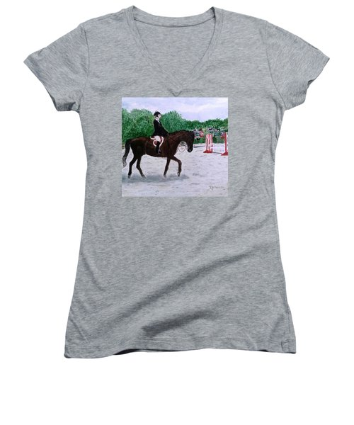 At The June Fete Women's V-Neck T-Shirt (Junior Cut)