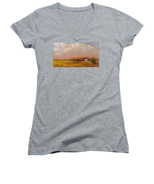 August Afternoon Pa Women's V-Neck