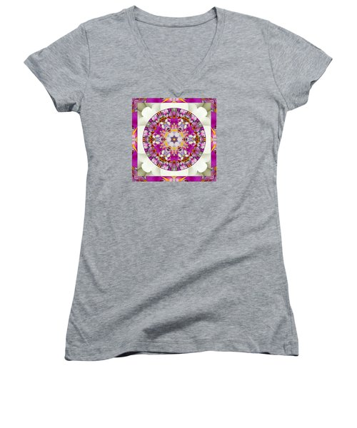 Women's V-Neck T-Shirt (Junior Cut) featuring the photograph Aura Of Joy by Bell And Todd