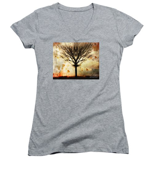Autum Wind Women's V-Neck