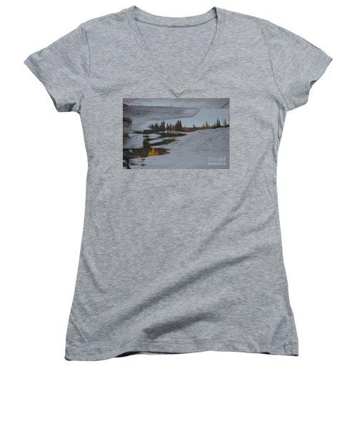 Autumn Arising Women's V-Neck T-Shirt (Junior Cut) by Brian Boyle