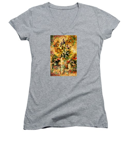 Autumn Bounty - Abstract Expressionism Women's V-Neck