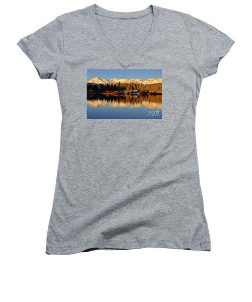 Autumn Colors At Molas Women's V-Neck T-Shirt