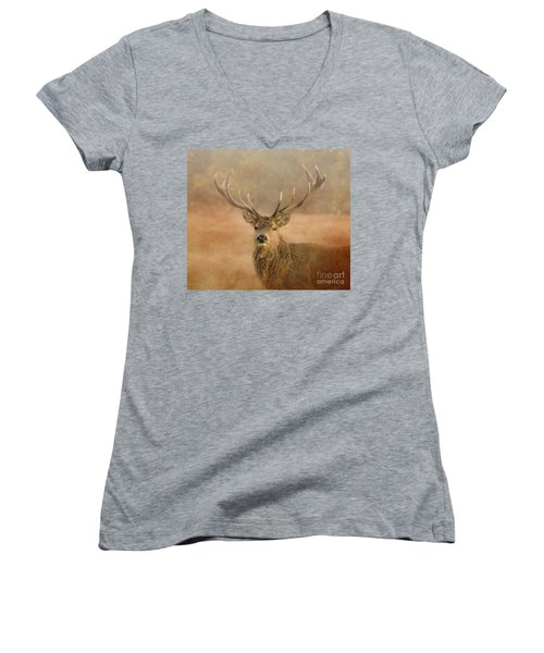 Magnificant Stag Women's V-Neck (Athletic Fit)