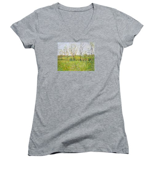 Autumn In Kentucky Women's V-Neck (Athletic Fit)