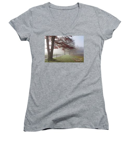 Autumn In The Cove IIi Women's V-Neck T-Shirt