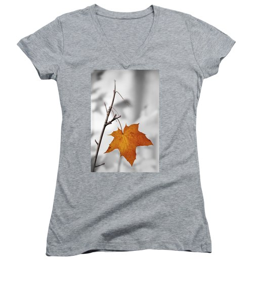 Autumn Leaf Women's V-Neck T-Shirt