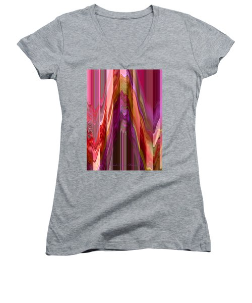 Autumn Leaves 1 - Abstract Autumn Leaves - Photography Women's V-Neck (Athletic Fit)