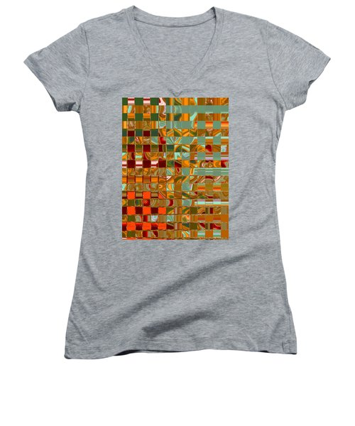 Autumn Leaves 8 - Abstract Images - Manipulated Photograph Women's V-Neck (Athletic Fit)