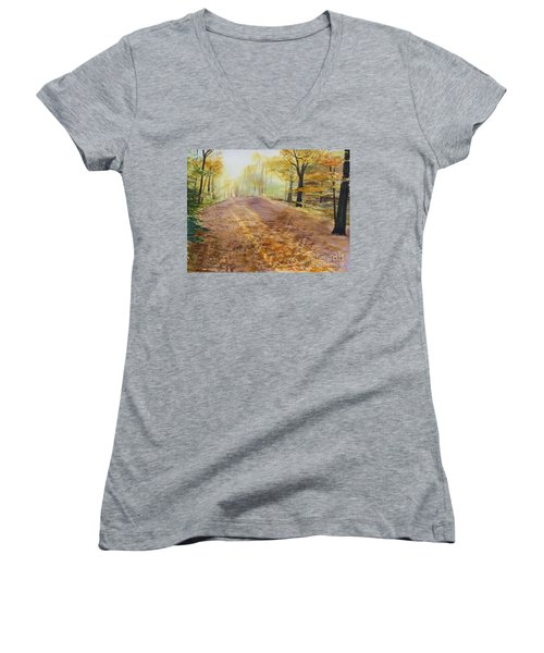 Autumn Sunday Morning Women's V-Neck T-Shirt