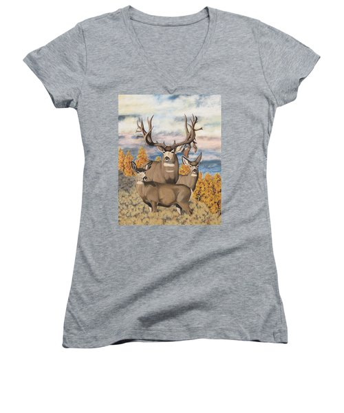 Avery Buck Women's V-Neck T-Shirt