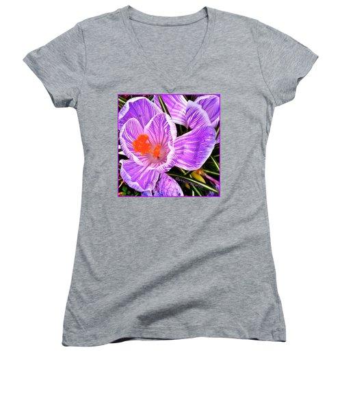 Awakening #flowers #spring #bulbs Women's V-Neck T-Shirt