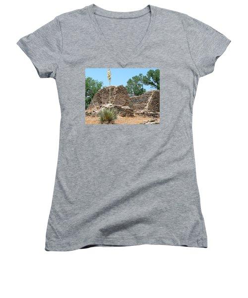 Aztec Ruins National Monument Women's V-Neck T-Shirt