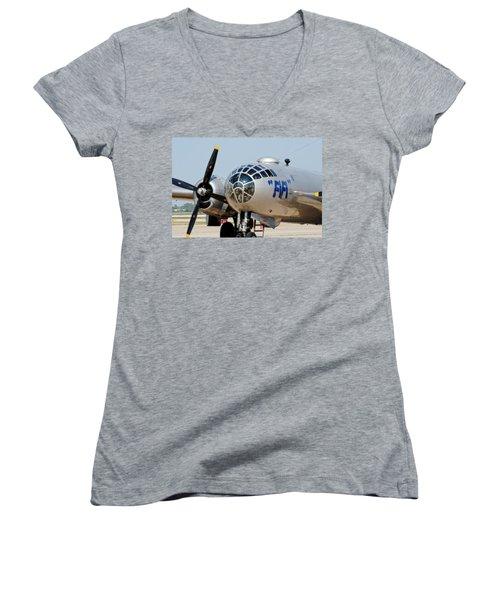 B-29 Bomber Fifi Women's V-Neck
