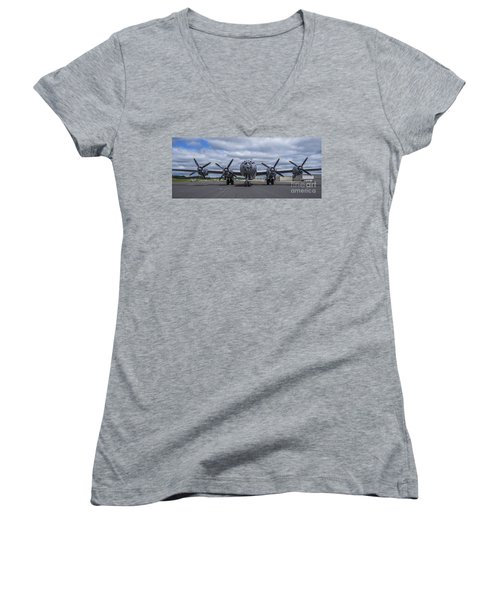 B29  Superfortress Women's V-Neck (Athletic Fit)
