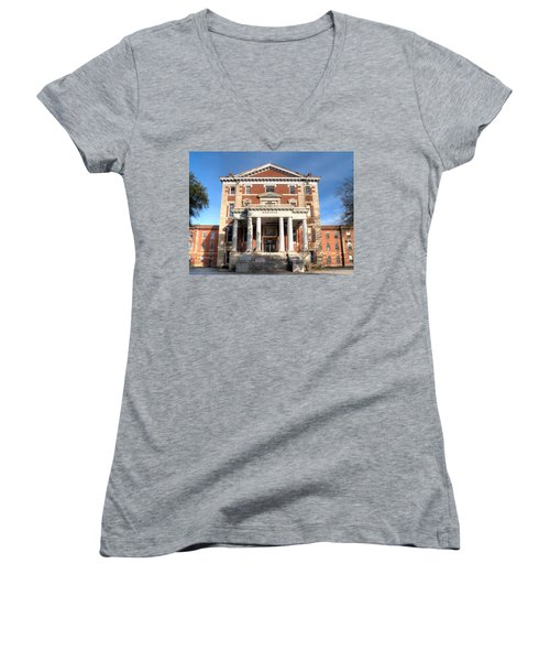 Babcock Building-2 Women's V-Neck (Athletic Fit)