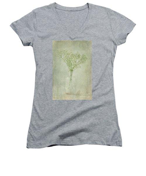 Baby's Breath Women's V-Neck T-Shirt