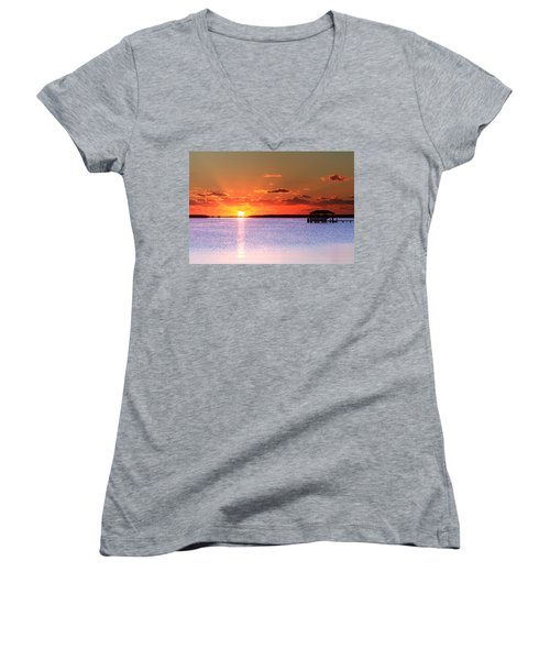 Back Bay Sunrise Women's V-Neck